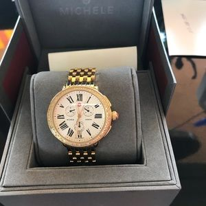 Michele Serein Gold Diamond Watch - with box